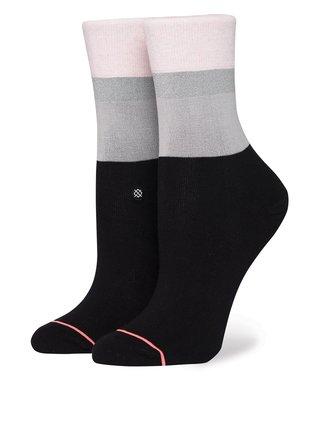 Ružovo-čierne dámske ponožky Stance Cara