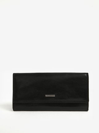 Čierna dámska kožená peňaženka KARA