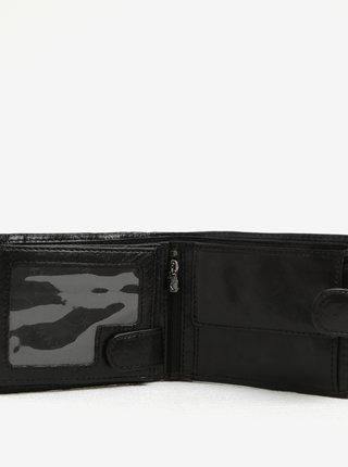 Čierna pánska kožená peňaženka KARA