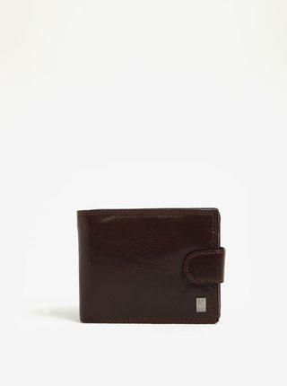 Tmavohnedá pánska kožená peňaženka KARA