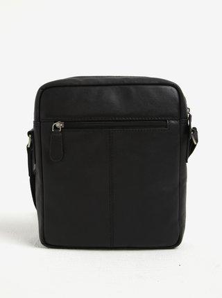 Čierna pánska kožená crossbody taška KARA