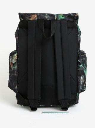 Zeleno-černý vzorovaný batoh s klopou Eastpak Austin 18 l