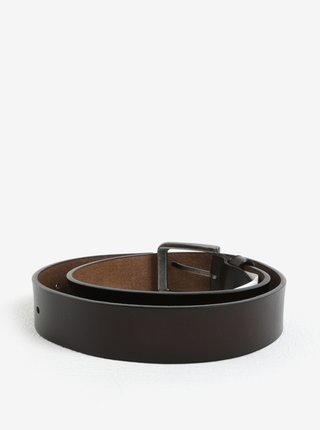 Hnědý kožený pásek ONLY & SONS Charlton