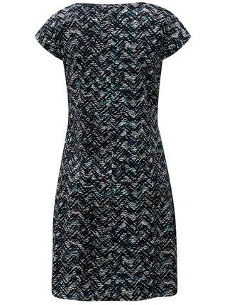 Bílo-modré vzorované šaty s asymetrickým zipem SKFK Aiara