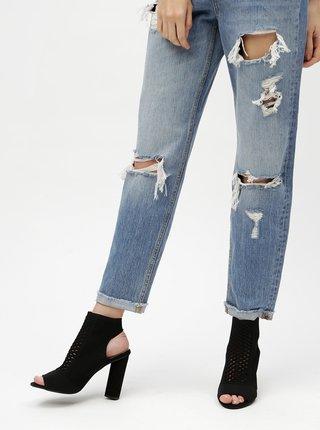 Černé sandálky na širokém podpatku MISSGUIDED