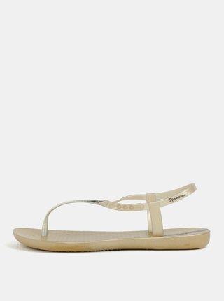 Metalické sandály ve zlaté barvě Ipanema Class Exclusive
