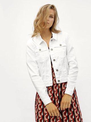 Biela rifľová bunda Noisy May