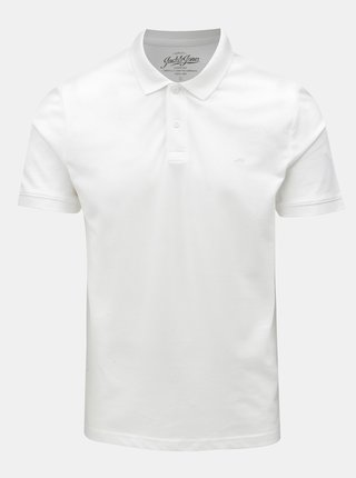 Bílé polo tričko Jack & Jones