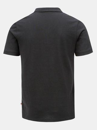 Černé polo tričko Jack & Jones