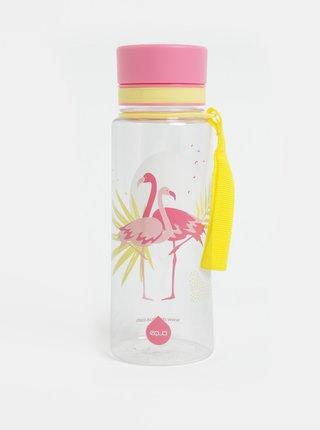 Plastová fľaša s motívom plameniakov EQUA 600 ml