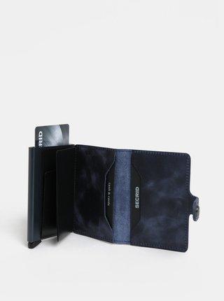Modrá kožená peňaženka s hliníkovým puzdrom s RFID Secrid Miniwallet