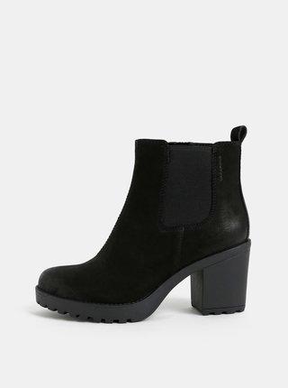 Černé dámské kožené chelsea boty Vagabond Grace