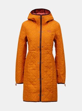 Vínový kabát s vnútorným tenkým odnímateľným kabátom 2v1 Kari Traa