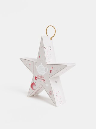 Vianočná čajová kolekcia v bielej farbe English Tea Shop Hviezda
