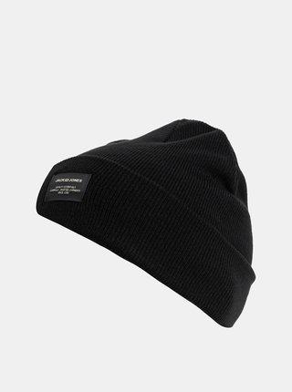 Čierna pletená zimná čiapka Jack & Jones DNA