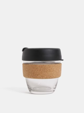 Čierny sklenený cestovný hrnček KeepCup Brew small 227 ml