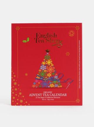 Červený čajový adventní kalendář English Tea Shop
