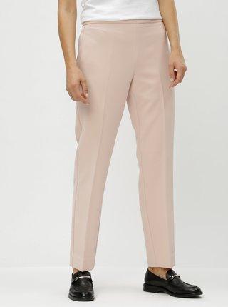 Světle růžové kalhoty s vysokým pasem DKNY Foundation
