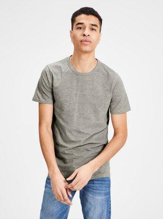 Sivé basic tričko s krátkym rukávom Jack & Jones Basic