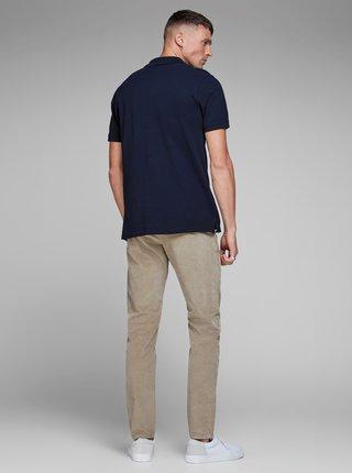 Modré basic polo tričko Jack & Jones