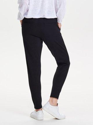 Čierne skrátené nohavice s vysokým pásom ONLY Poptrash