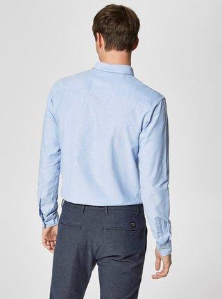 Modrá košeľa Selected Homme Collect