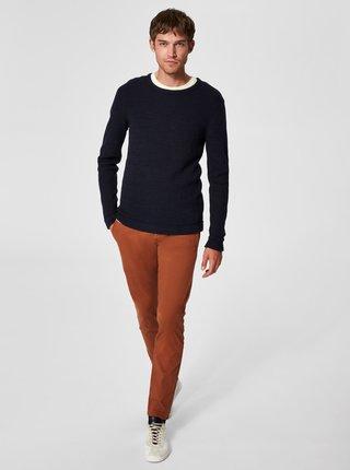 Tmavomodrý sveter s okrúhlym výstrihom Selected Homme Victor
