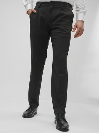 Tmavosivé vzorované regular fit nohavice Jack & Jones Cody