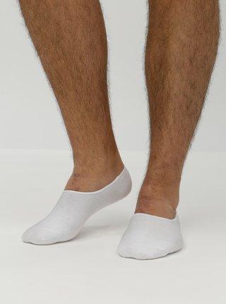Súprava piatich párov nízkych ponožiek v bielej farbe Jack & Jones Basic