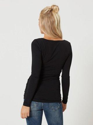 Černé dlouhé basic tričko s dlouhým rukávem VERO MODA Maxi My