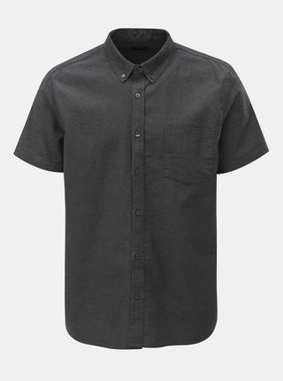 Sivá košeľa s krátkym rukávom Burton Menswear London Oxford
