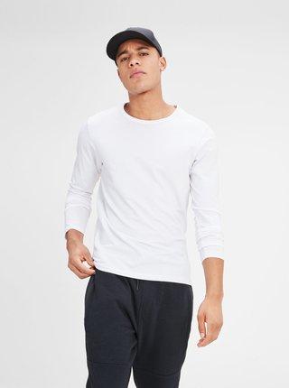 Bílé basic tričko s dlouhým rukávem Jack & Jones Basic