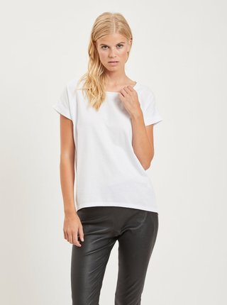 Bílé basic tričko VILA Dreamers