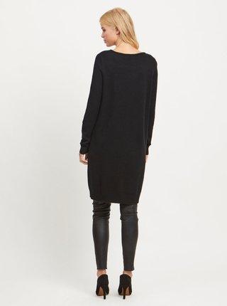 Černé svetrové šaty VILA Ril