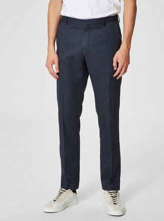 Modré oblekové kalhoty Selected Homme-Mylologan