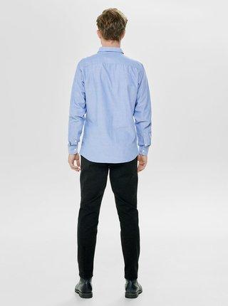 Světle modrá slim fit košile ONLY & SONS Alvaro