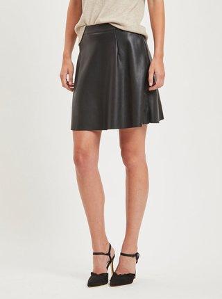 Černá koženková sukně VILA Pen