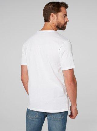 Biele pánske regular fit tričko s výšivkou HELLY HANSEN