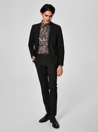 Čierne oblekové nohavice Selected Homme Newone