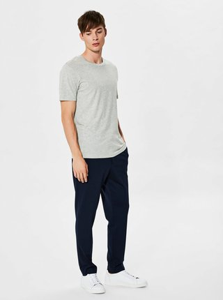 Sivé basic tričko Selected Homme The Perfect