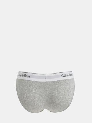Sivé melírované nohavičky so širokým lemom Calvin Klein Underwear