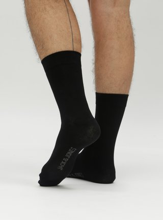 Sada pěti párů černých ponožek Jack & Jones Jens