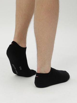 Sada dvou párů pánských nízkých ponožek v černé barvě Tommy Hilfiger