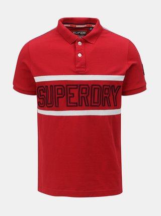 Červená pánska polokošeľa s nášivkou na rukáve Superdry