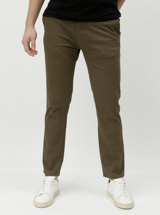 Khaki slim fit chino kalhoty Burton Menswear London