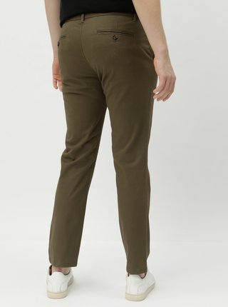 Kaki slim fit chino nohavice Burton Menswear London