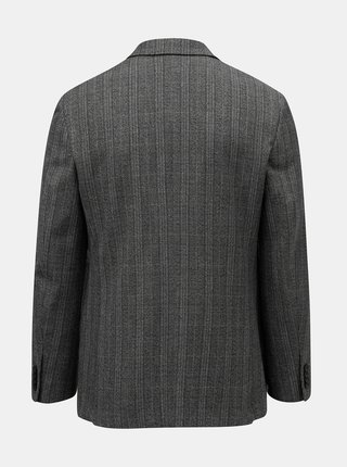 Sivé kockované oblekové sako Burton Menswear London Pow