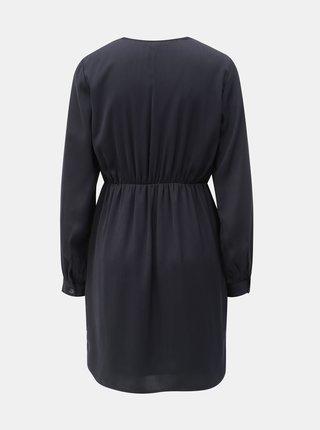 Tmavě modré šaty s ozdobnými knoflíky VERO MODA Baya