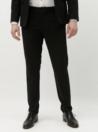 Čierne pruhované nohavice ONLY & SONS Mark