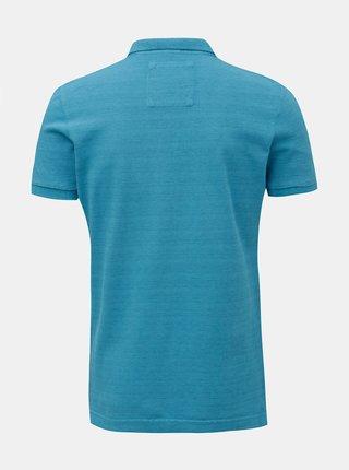 Modré pánské polo tričko Superdry